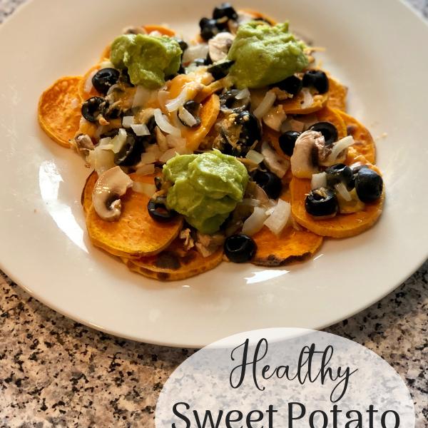 healthy sweet potato nachos