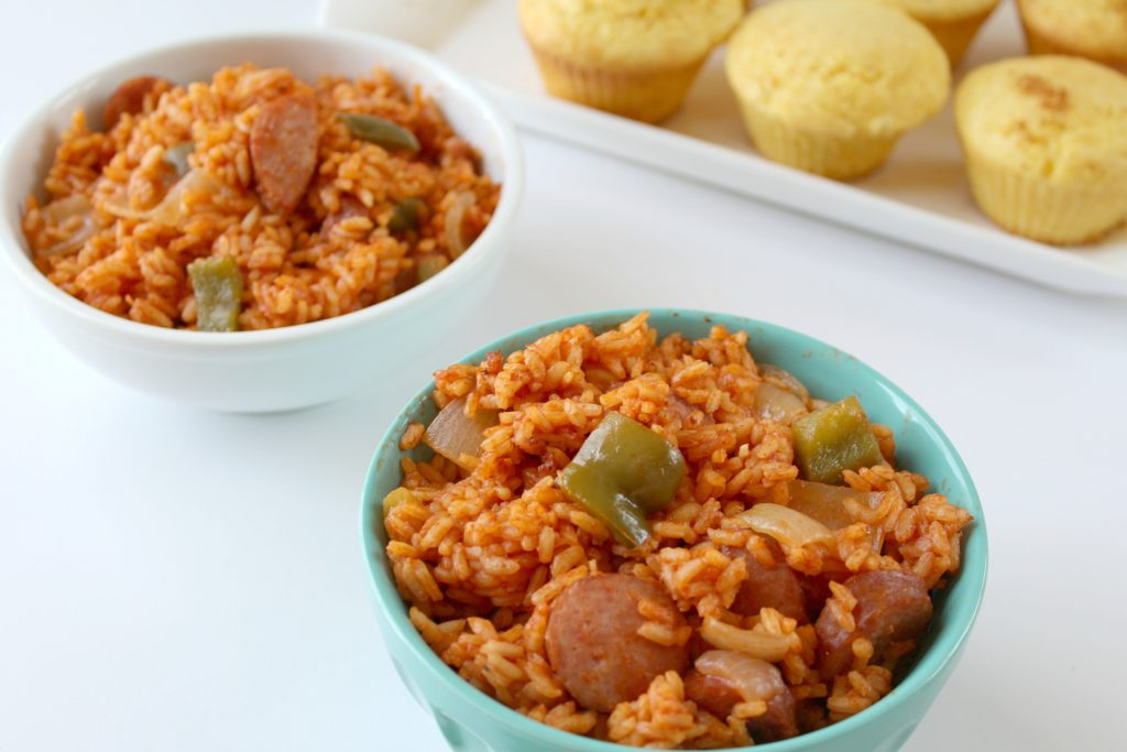 Southern cooking - red rice and sausage