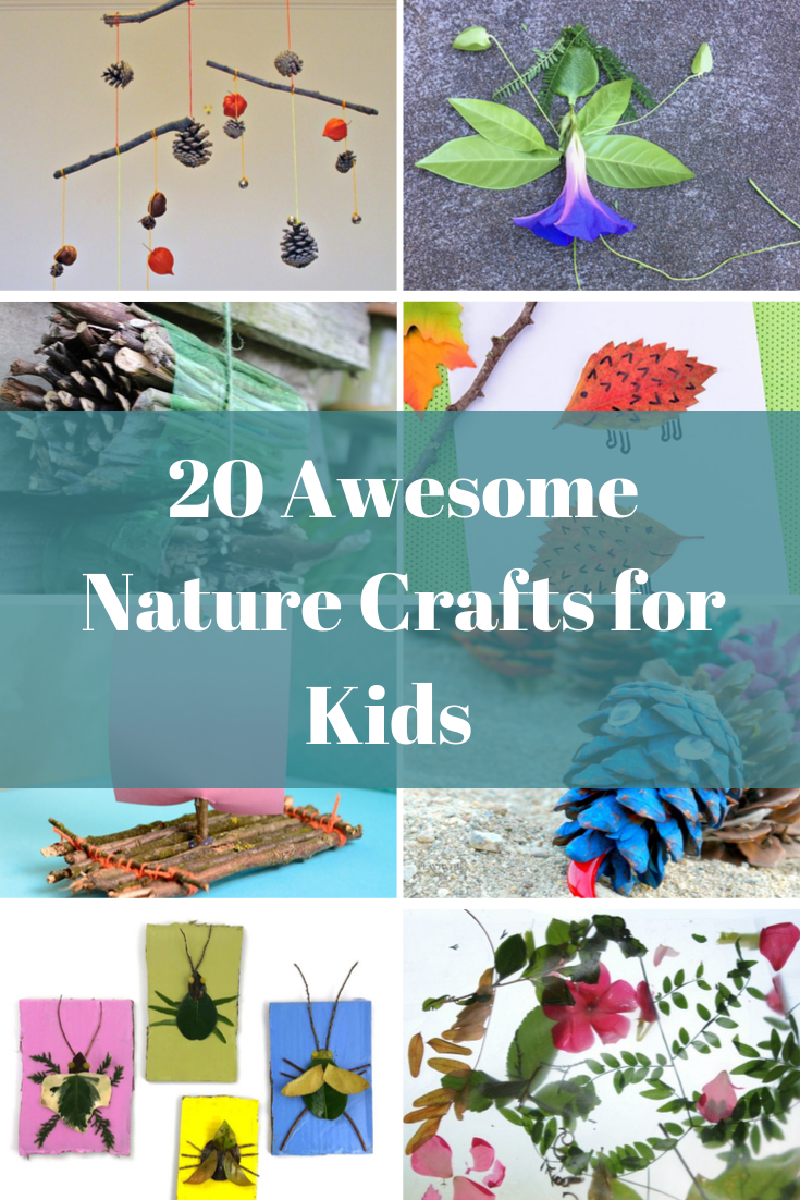 20 fun nature crafts to do with kids