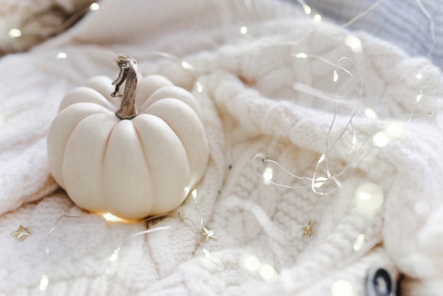 Decorating for fall with pumpkins doesn't always have to mean the standard big orange ones!