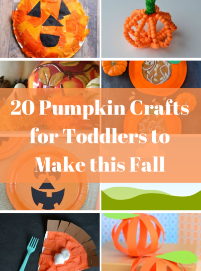Easy pumpkin and Halloween crafts for toddlers and preschoolers