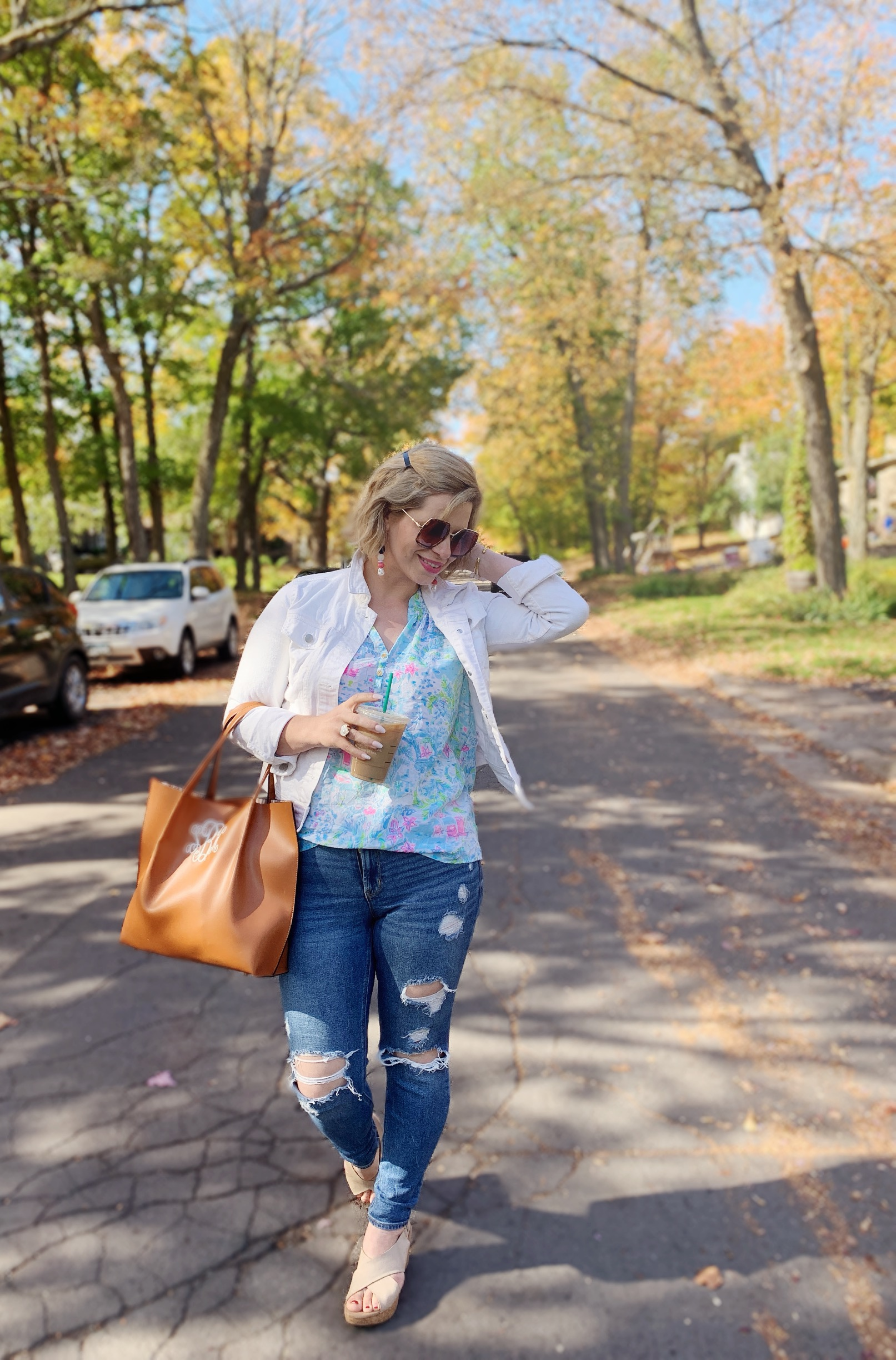 Lilly Pulitzer wear for fall, easy and affordable fall fashion for women