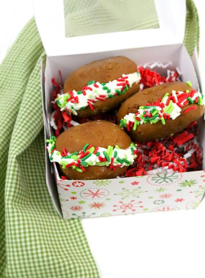Gingerbread Whoopie Pies made from scratch.