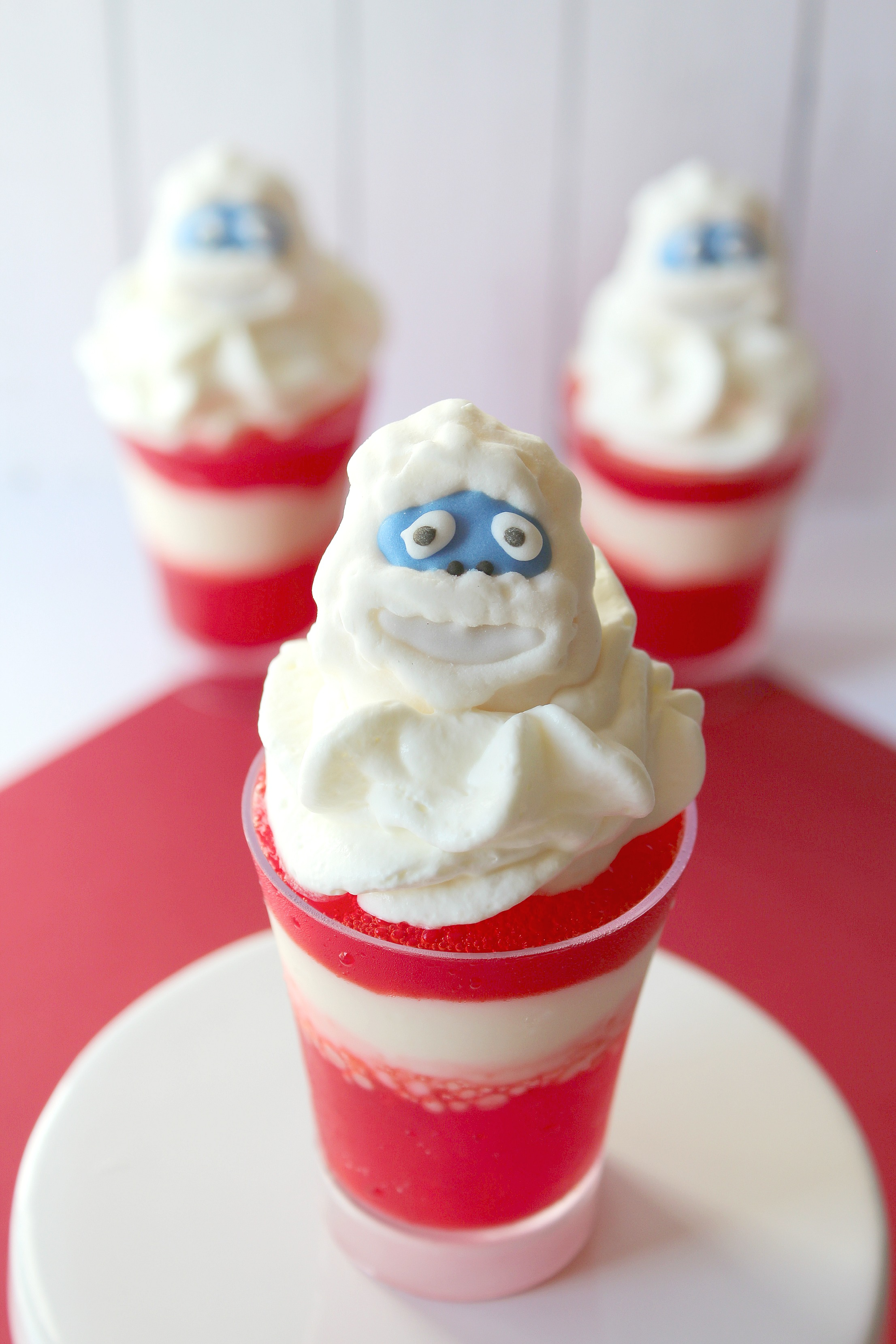 Easy, fun and simple Christmas Rudolph the Red Nosed Reindeer themed dessert cups