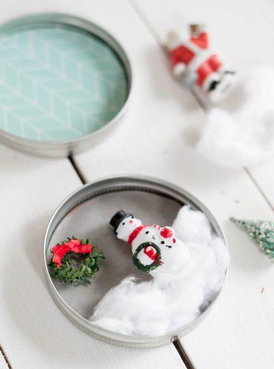DIY mason jar Christmas ornament craft for kids