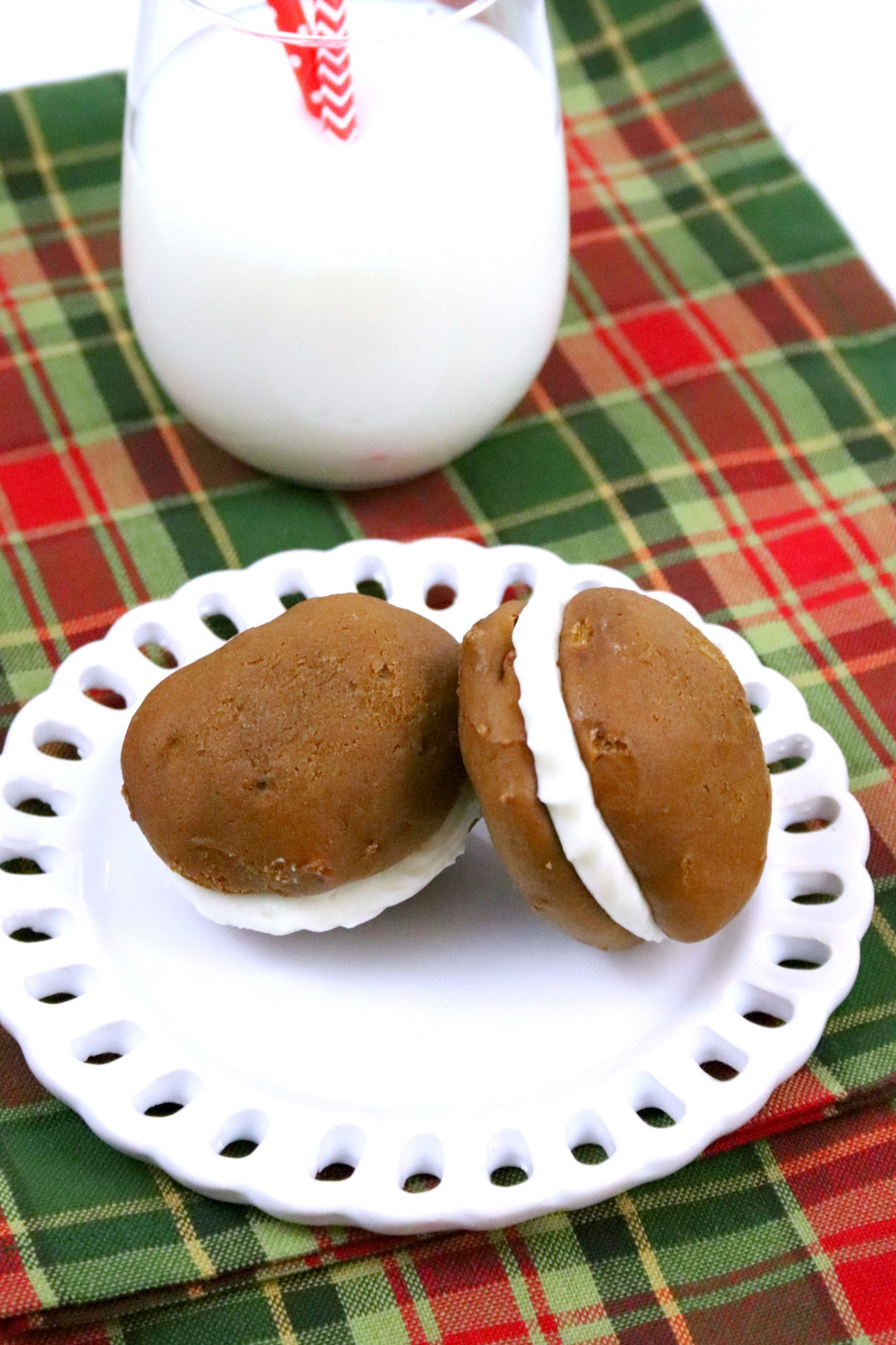 Whoopie pies made from scratch.