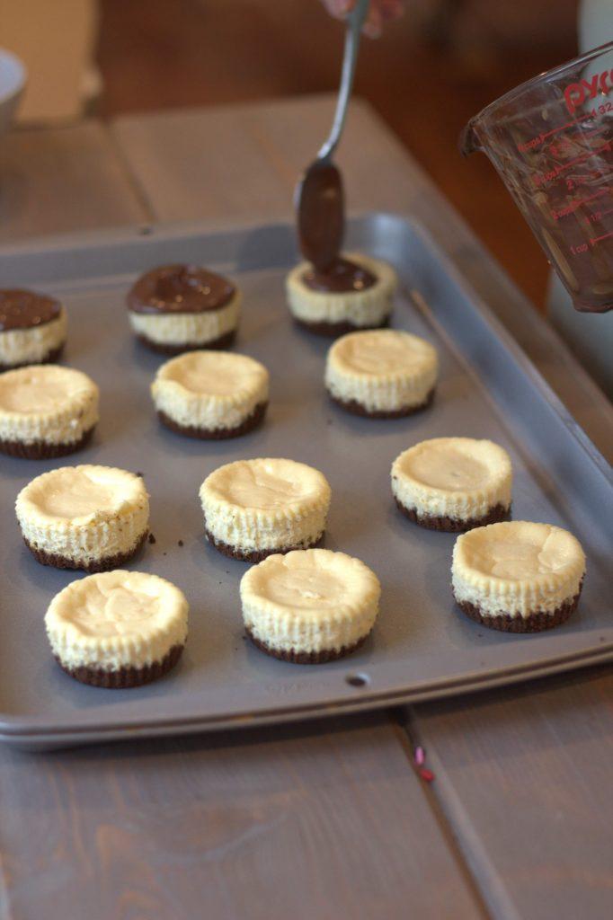 Mini Chocolate Covered Cheesecakes