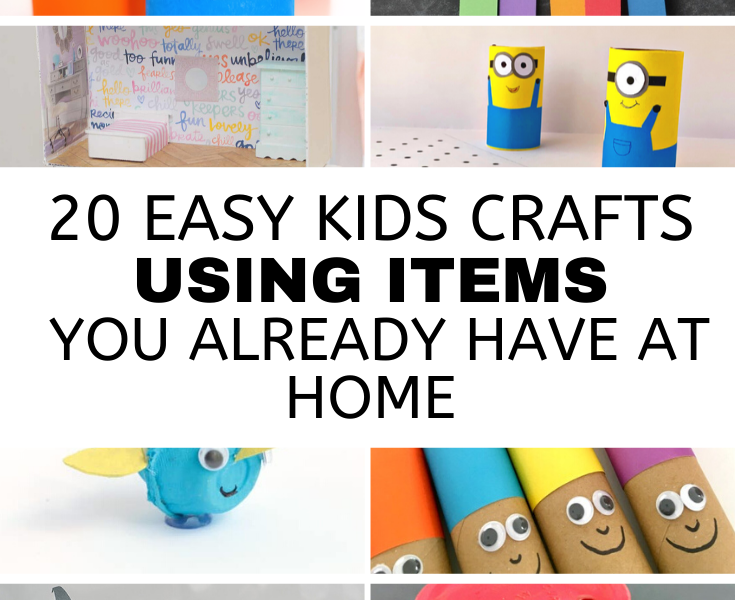 20 Fun & Affordable Kid's Crafts
