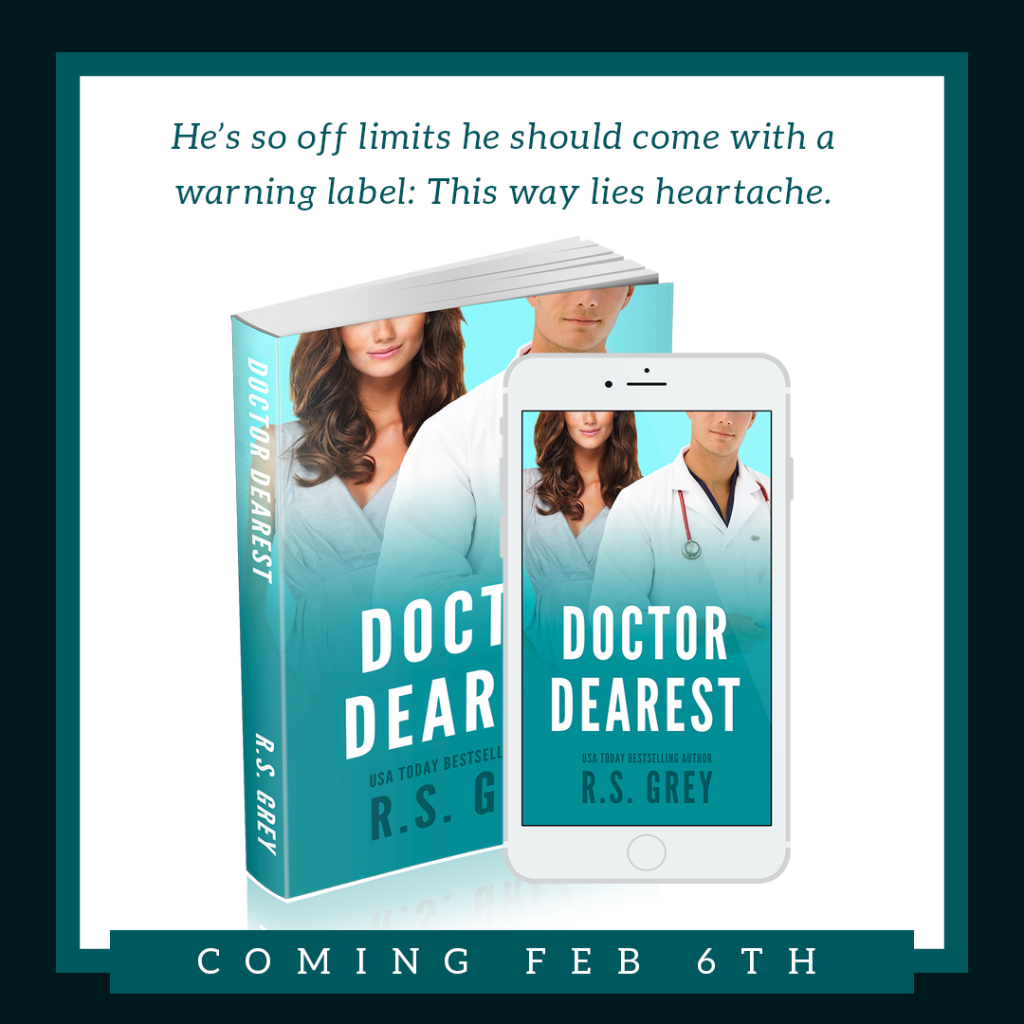 Cover reveal for R.S. Grey's Doctor Dearest
