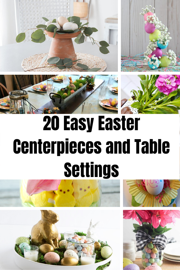 20 Easy Easter Centerpieces and Table Settings