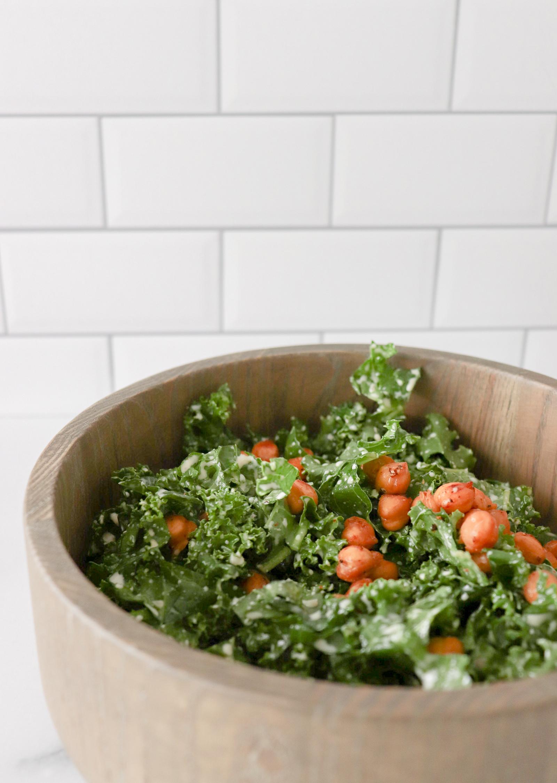 Vegan Chickpea & Kale Salad