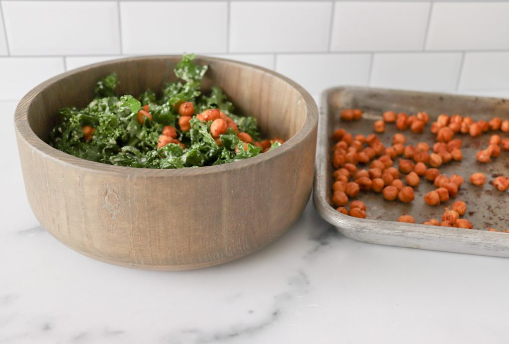 Vegan Chickpea & Kale Salad