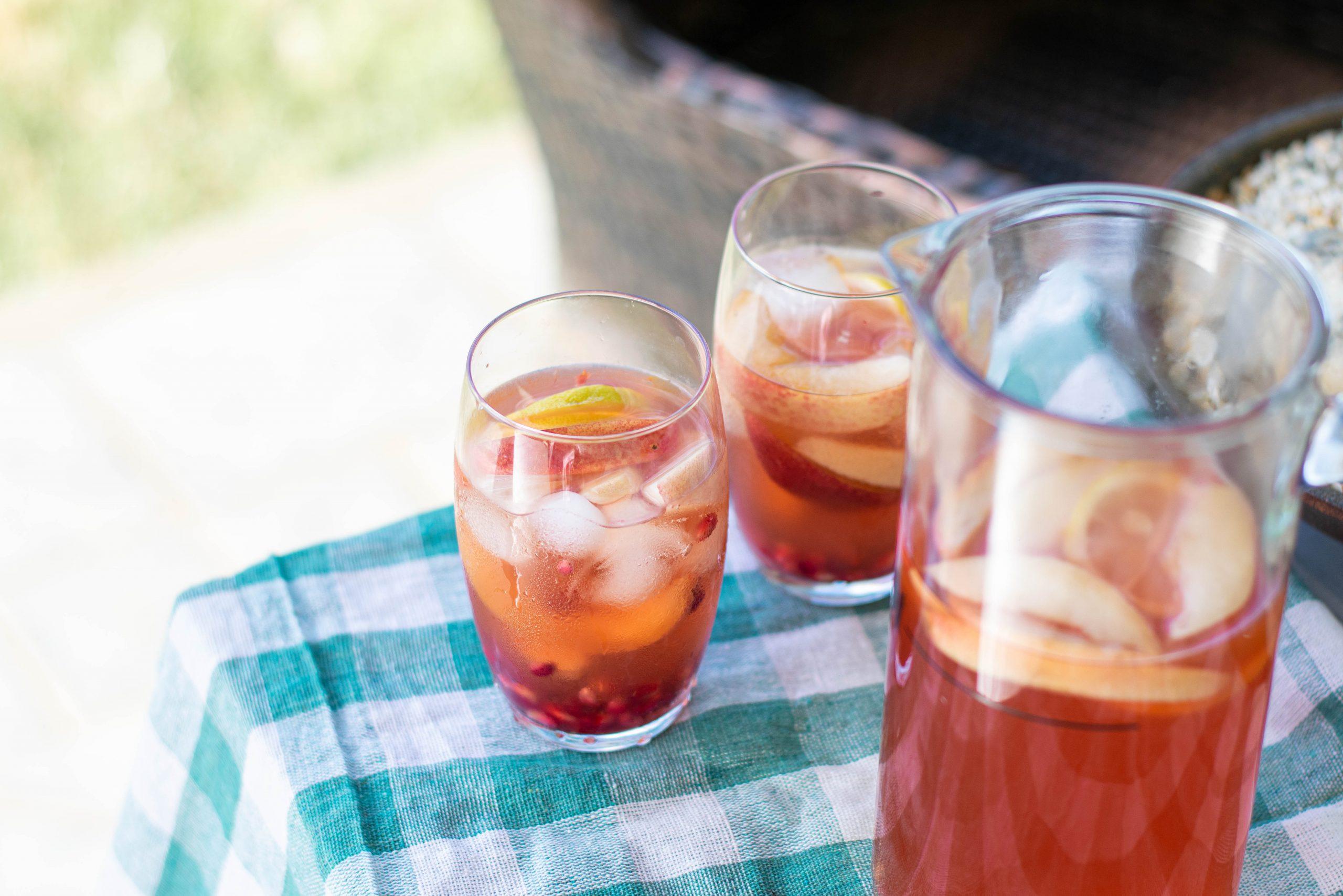 Ginger Peach Lemon Bourbon