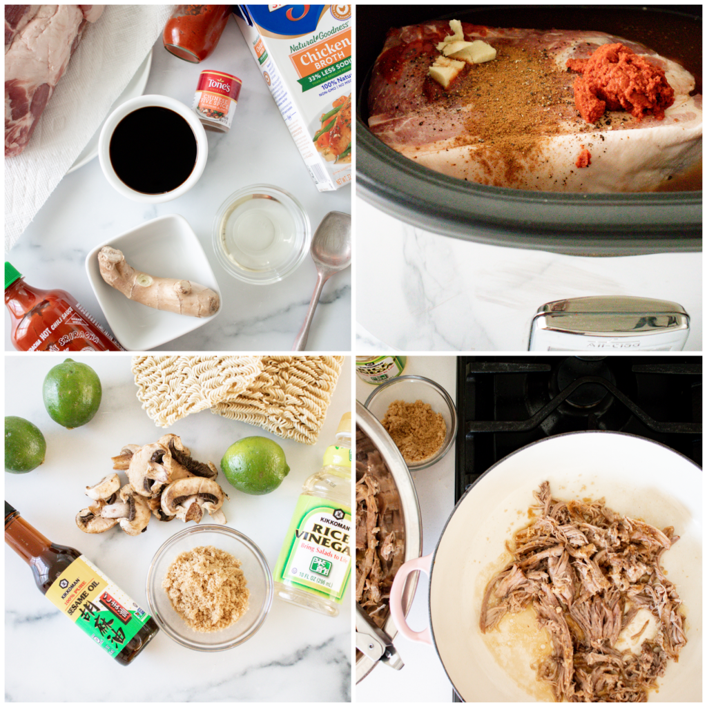 CrockPot Crispy Caramelized Pork Ramen