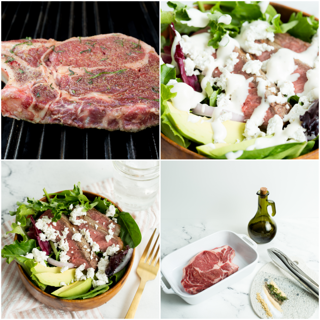 Steak Salad- the perfect restaurant quality dinner!