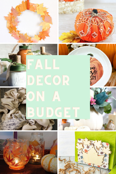 collage of Fall Decor On A Budget