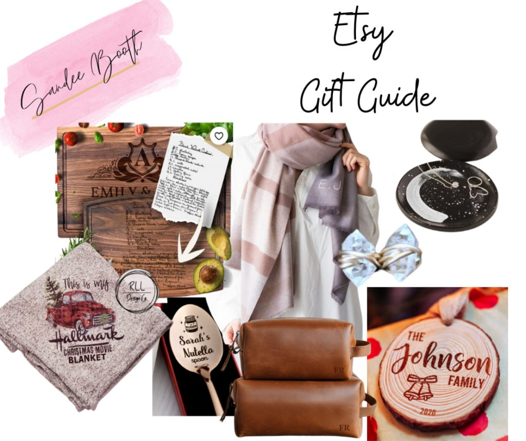 collage of items that can be Gifts for Her including scarf, jewelry, and more