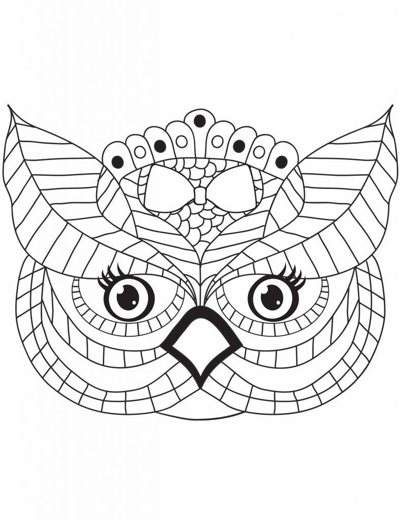 a face of an owl