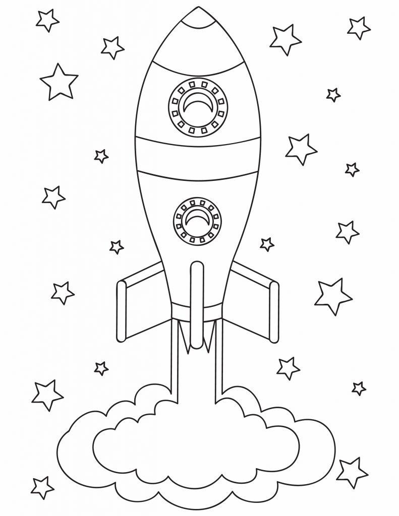 a rocket flying towards the stars