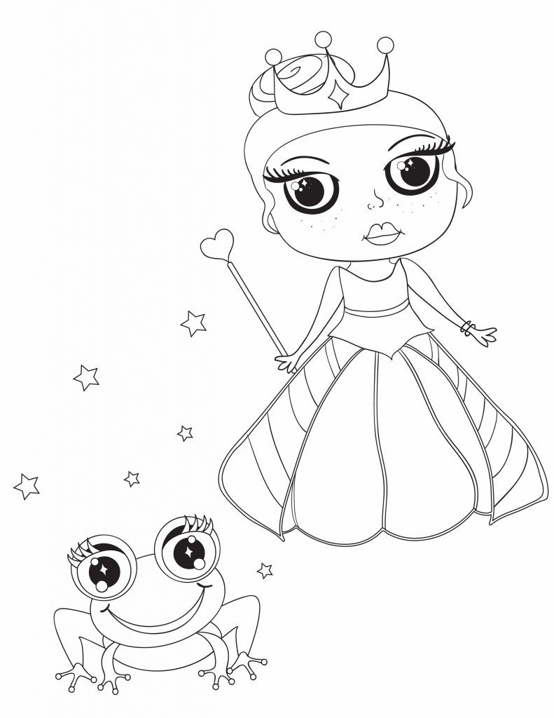a princess and a frog for fun printables for kids