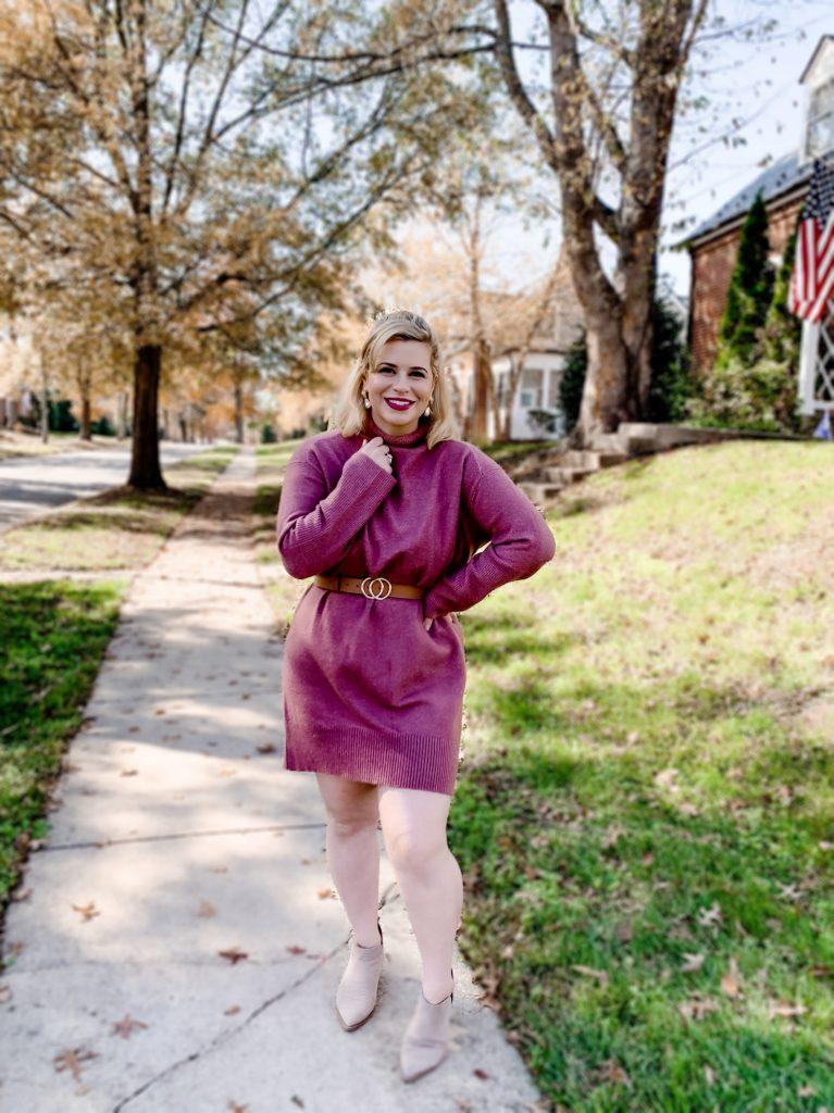 Styling a Fall Sweater Dress