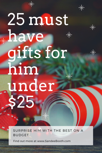 25 gift ideas under $25 for him