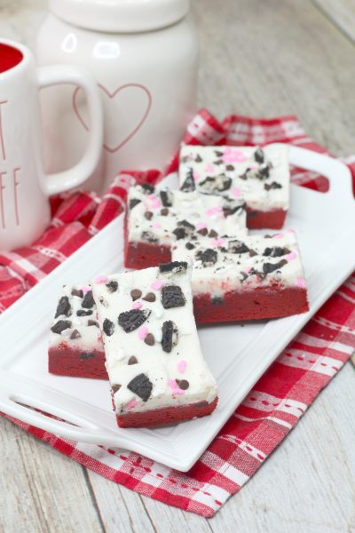 Red Velvet Oreo Cookie bars