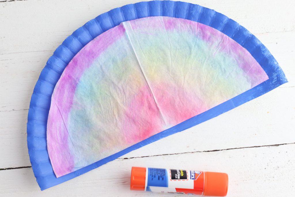 Rainbow crafts | Coffee Filter Tie Dye Rainbow