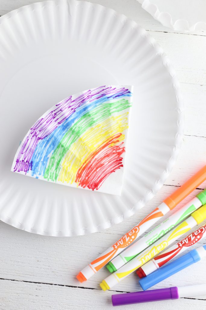Coffee Filter Tie Dye Rainbow