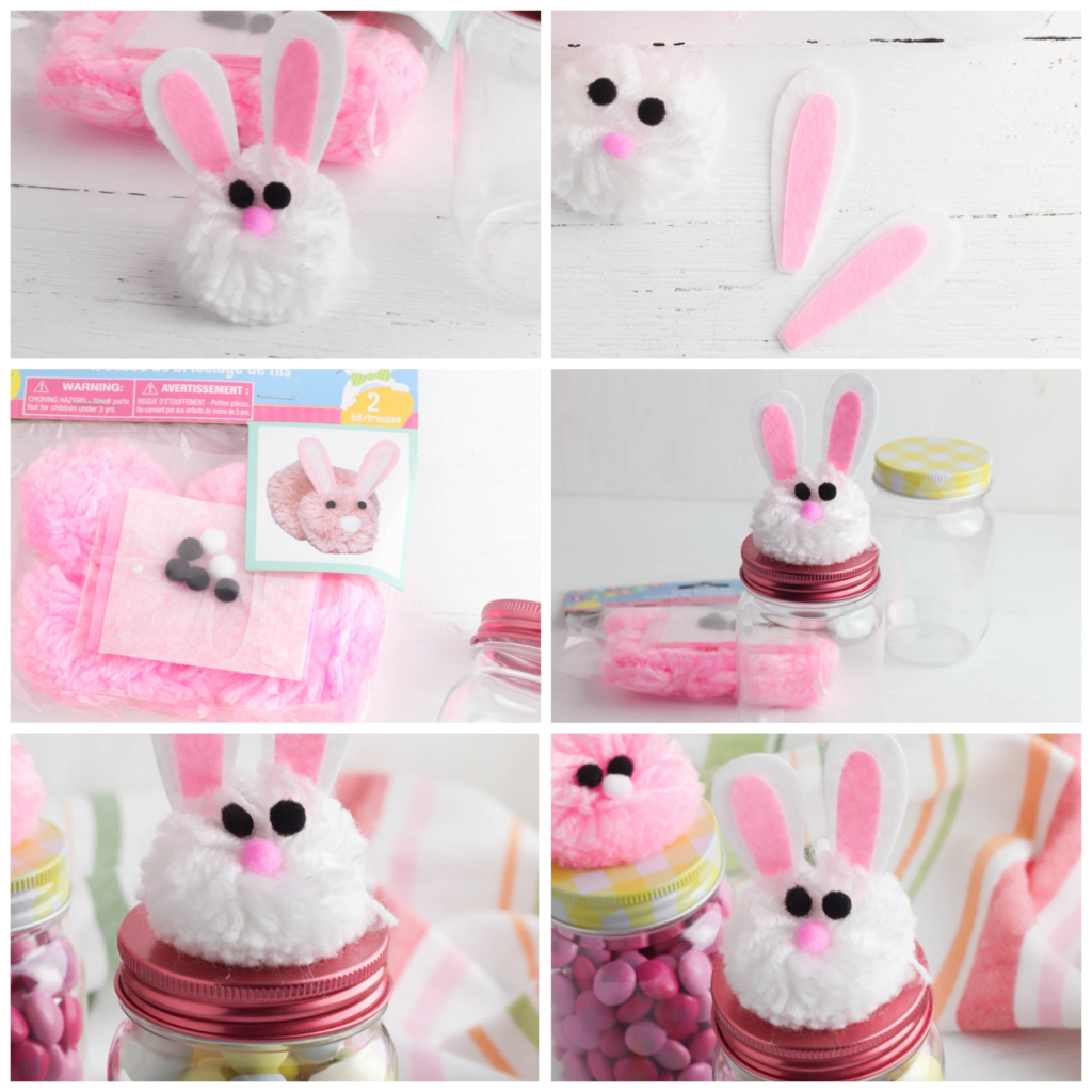 Dollar Tree Bunny Treat Jars | Easter kids activity