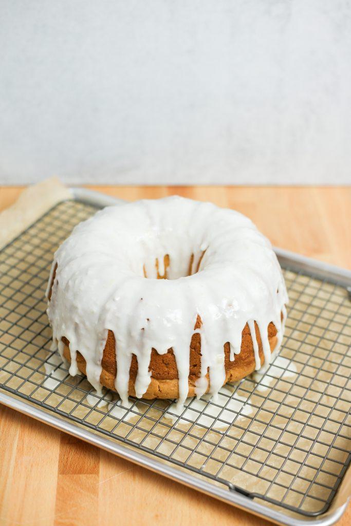spring baking baby shower cake
