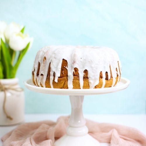 Lemon Ginger Bundt Cake- spring baking, spring cakes, baby shower cakes