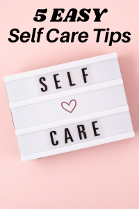 blog cover 5 easy self care tips