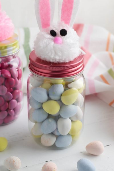 Dollar Tree Bunny Treat Jars