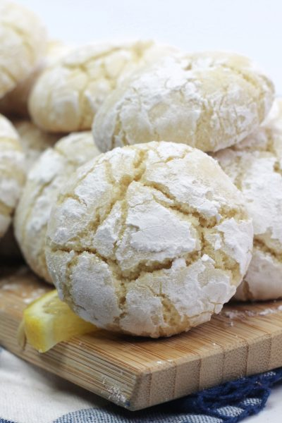 Lemon Cream Cheese Crinkle Cookies