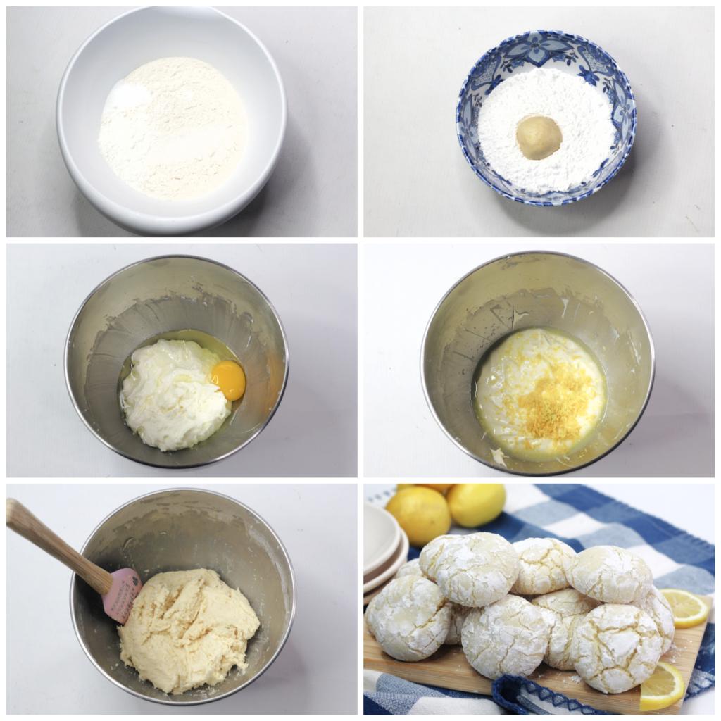 Lemon crinkle cookies ingredients