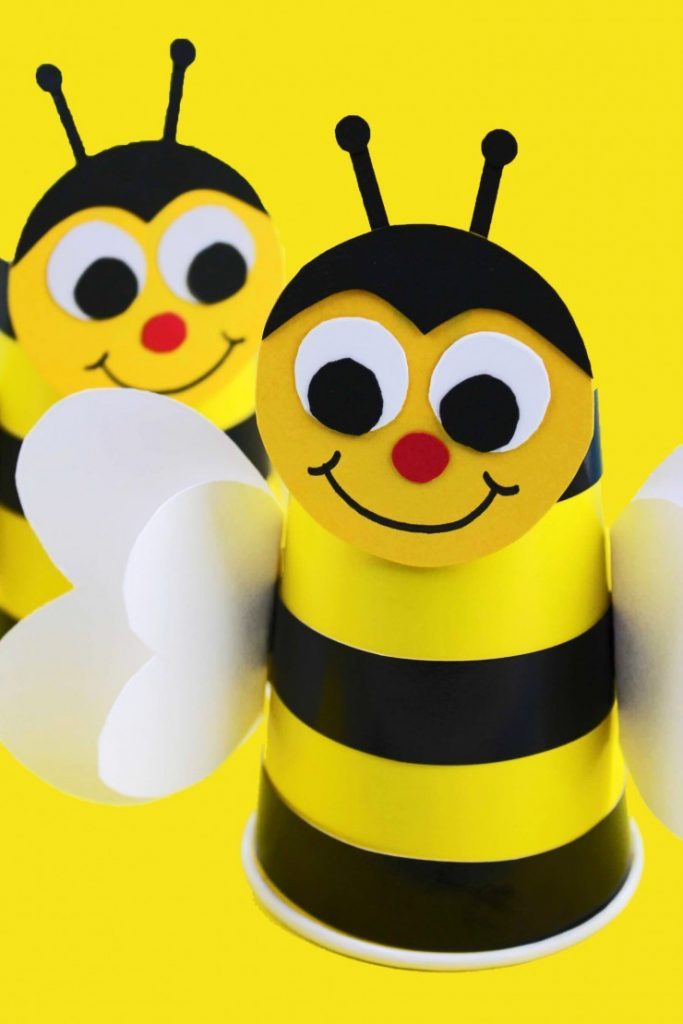 Bumble-Bee-Cup- fun spring crafts for kids