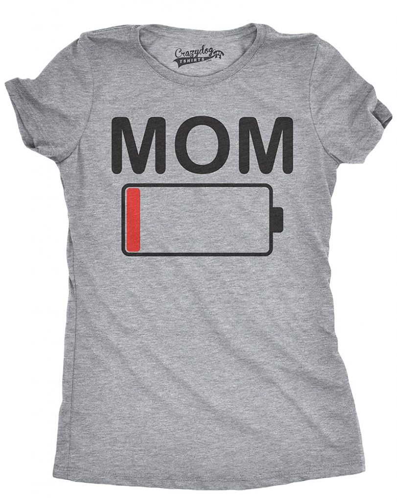 Cute clothes for moms | Low Battery T-Shirt