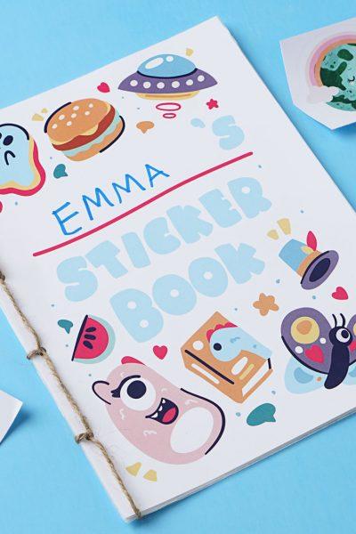 diy sticker book
