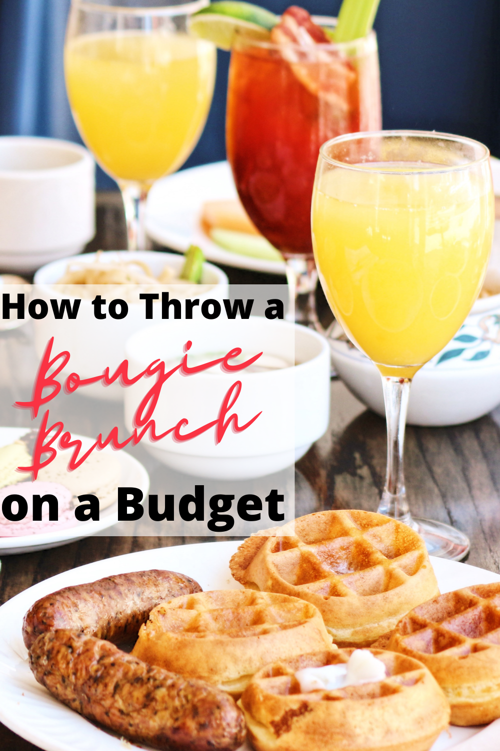 Throw a bougie brunch on a budget with waffles and drinks