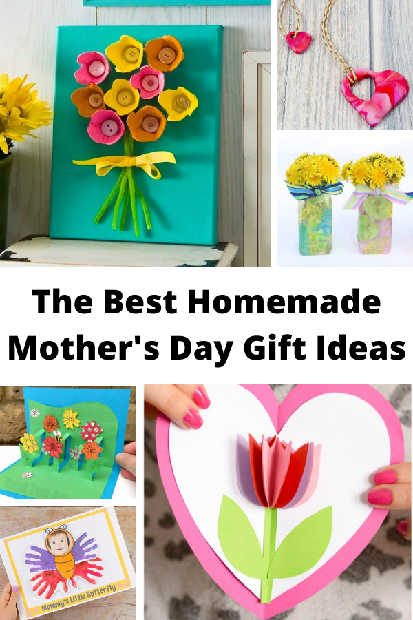 collage of images of Homemade Mother's Day gifts