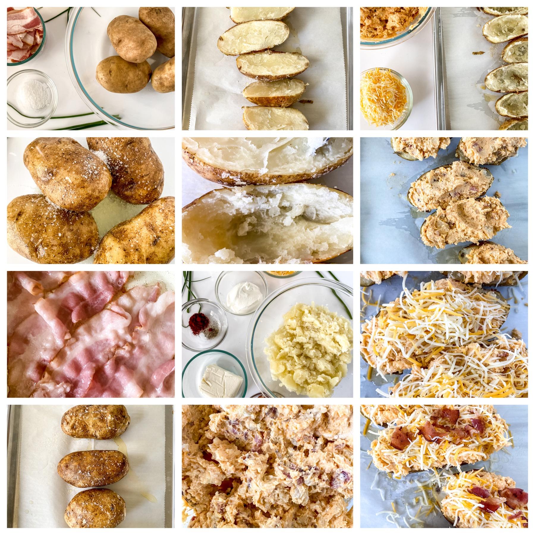 Cheesy twice baked potato recipe