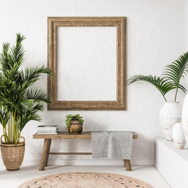 Minimalist Bohemian living Room
